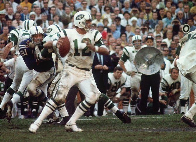 Jets quarterback Joe Namath in Super Bowl III