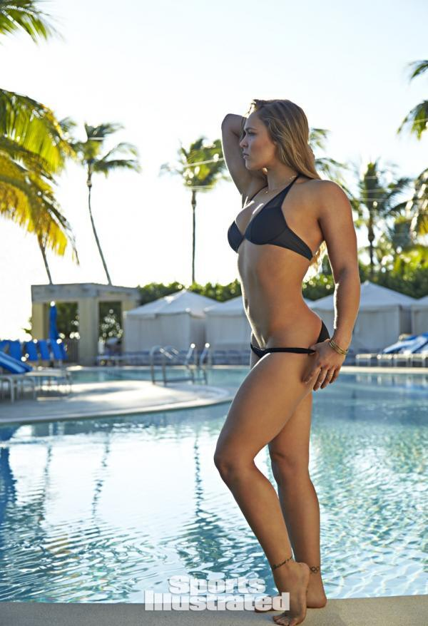 Ronda Rousey Posing By The Pool