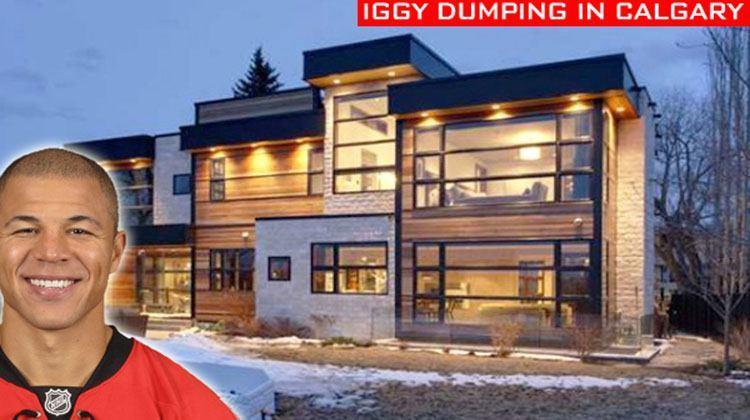 Jarome Iginla sells his Calgary home