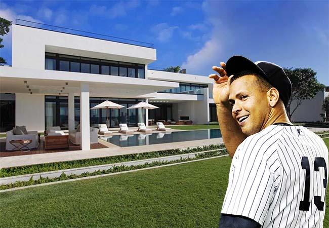 Home of Yankees slugger Alex Rodriguez