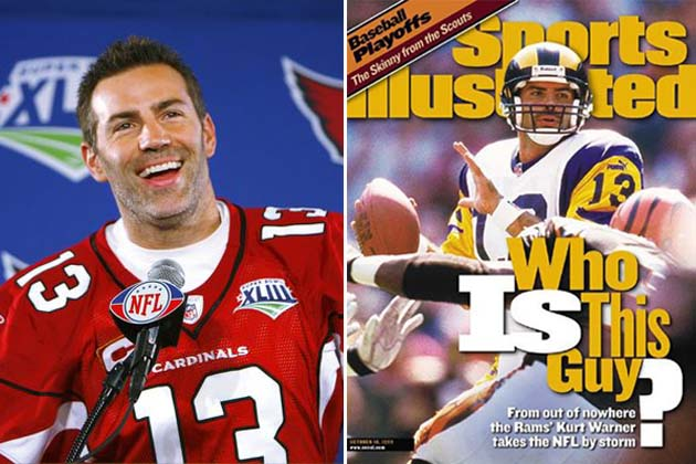 quarterback Kurt Warner was an undrafted free agent