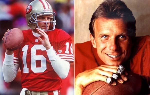 Joe Montana of the San Francisco 49ers