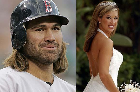 Johnny Damon and wife Michelle