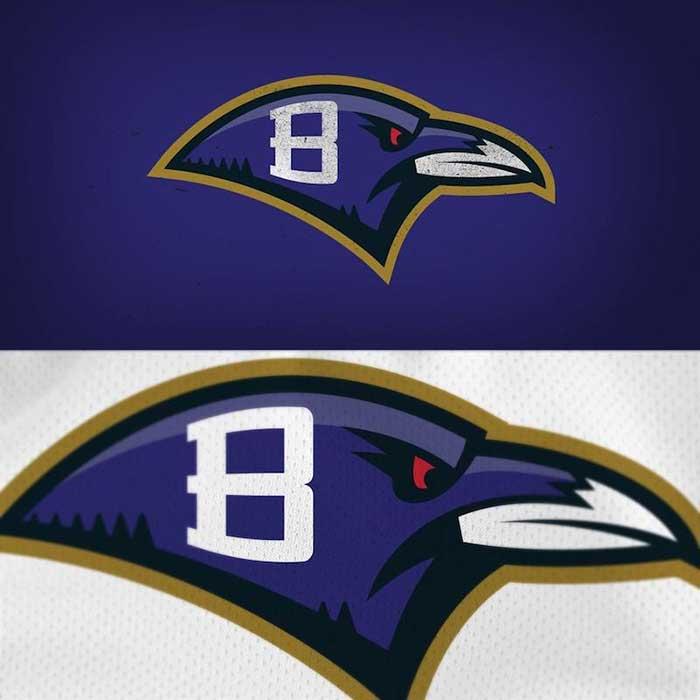 Baltimore Ravens Logo Redesigned