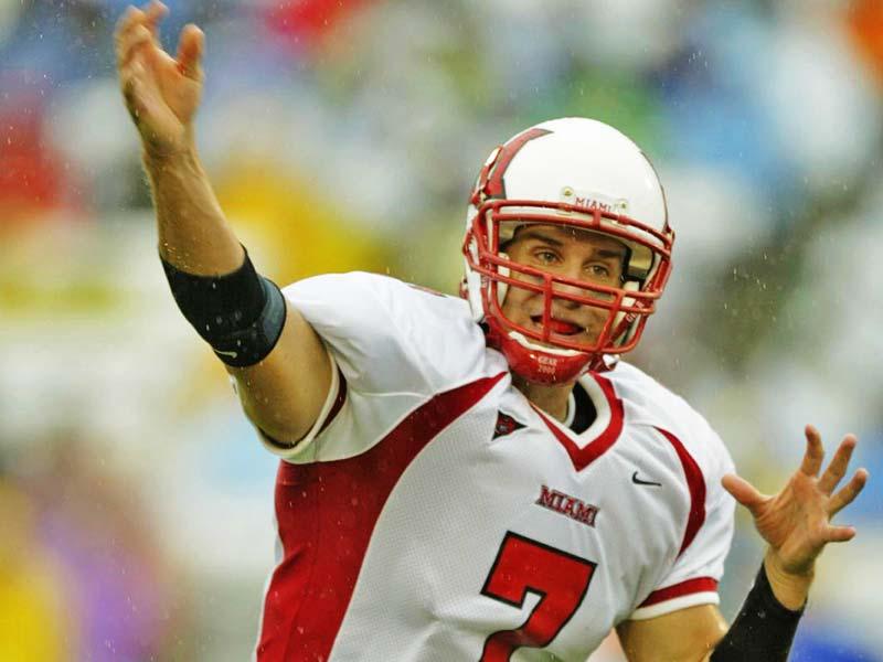 Ben Roethlisberger of Miami throws the ball