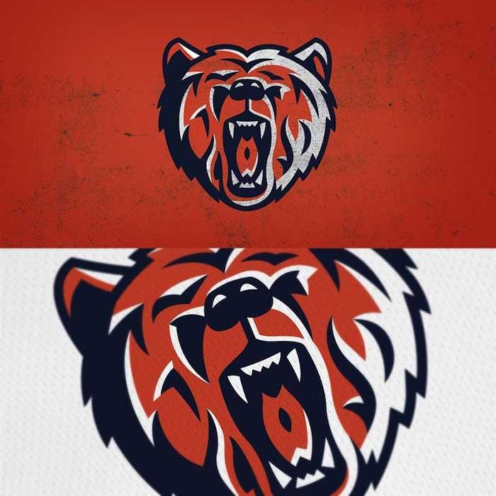 Chicago Bears Logo Redesigned