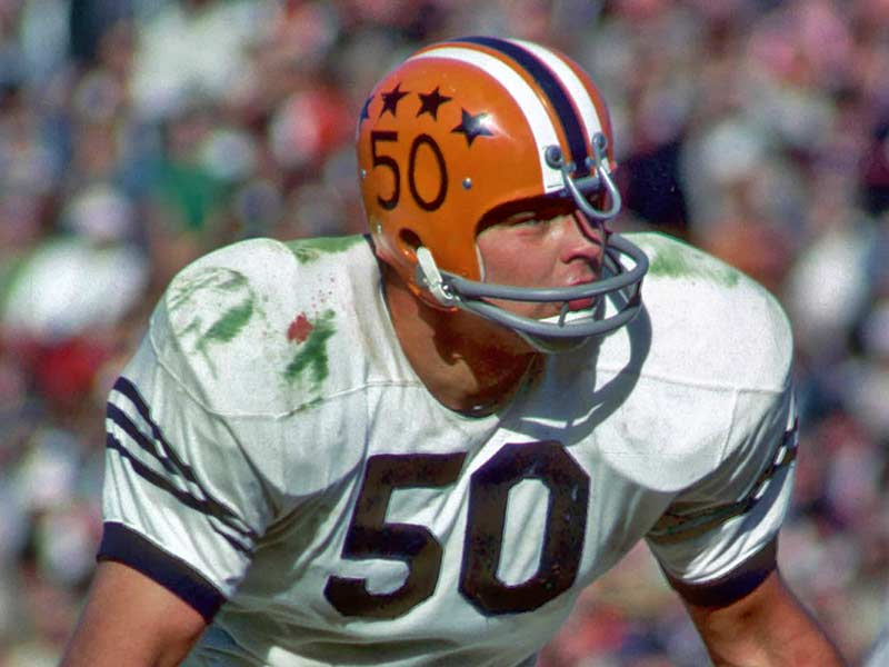 Dick Butkus of Illinois in the field, playing
