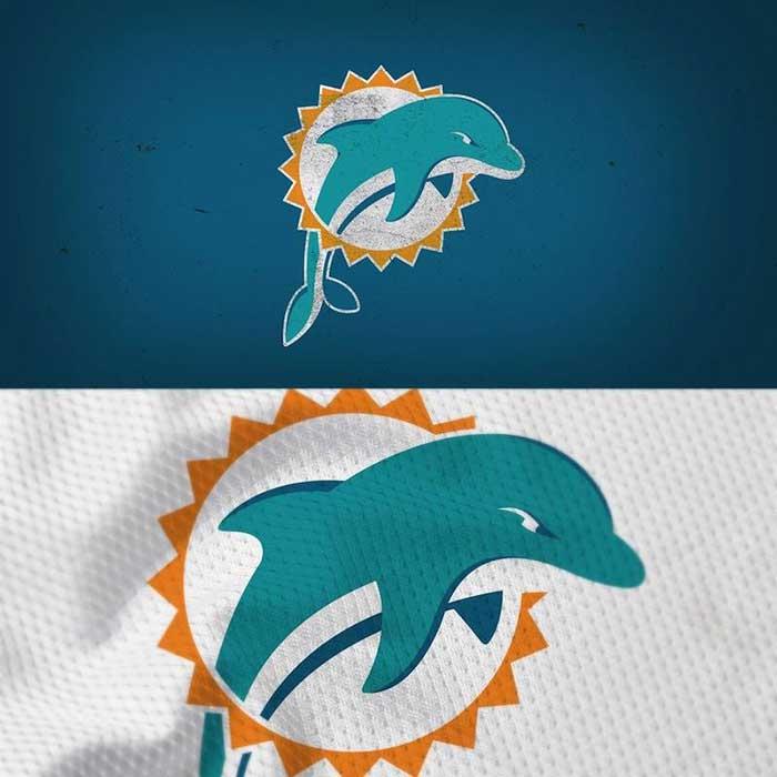 Miami Dolphins Logo Redesigned