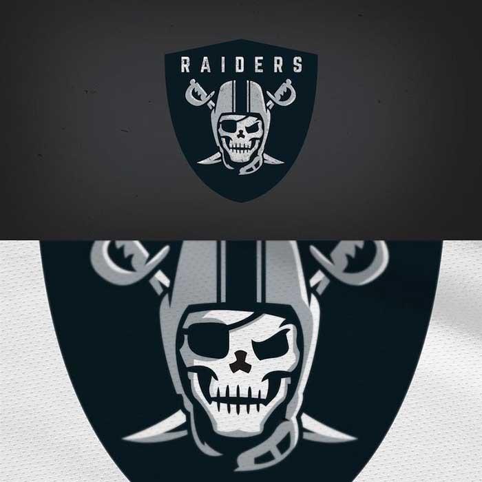 Oakland Raiders Logo Redesigned