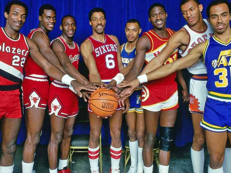 The 1985 NBA All-Stars unite