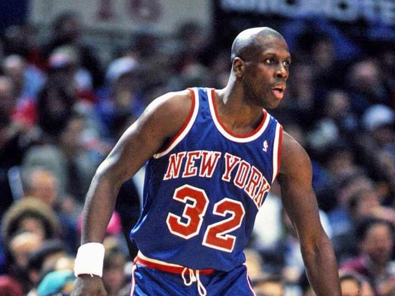 Xavier McDaniel of New York Knicks in game