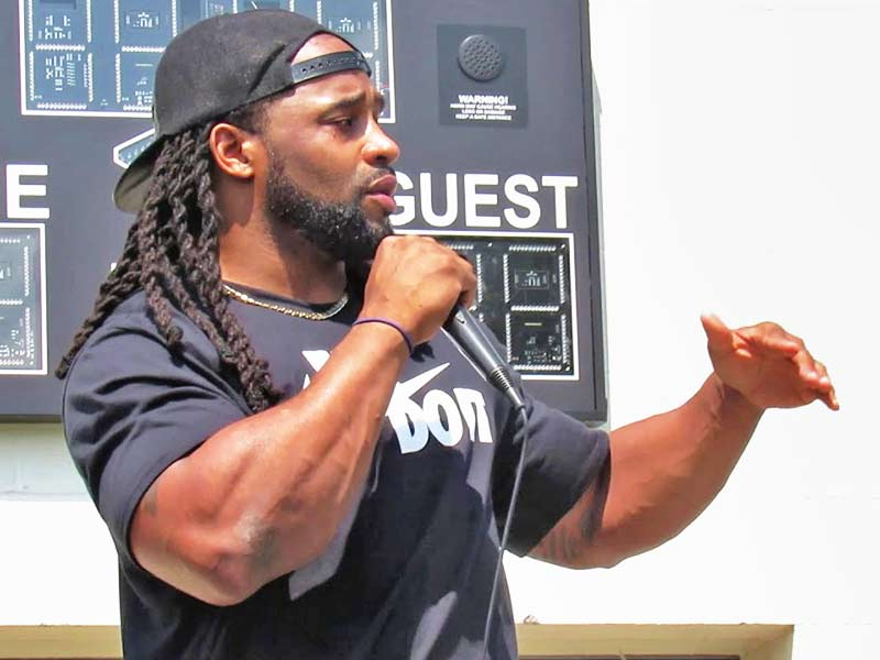 Bob Sanders in charitable events and camps