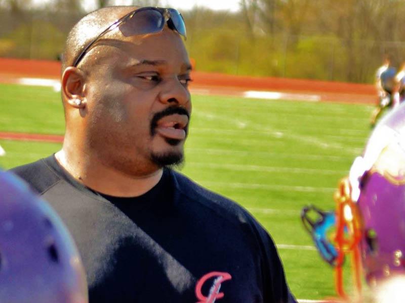 Ickey Woods coaching Cincinnati Sizzle