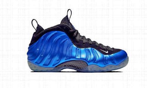 Nike Foamposite One black/blue colorway