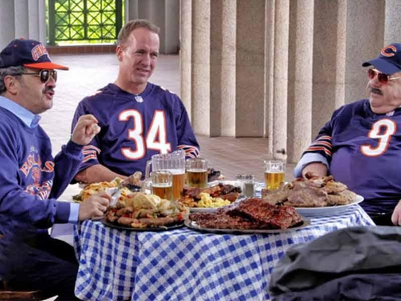 Peyton Manning during his TV Show Peyton's Places